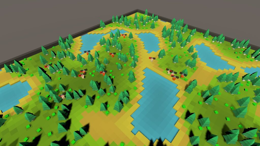 A basic ecosystem simulator in Unity